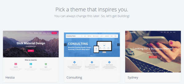A bluehost theme